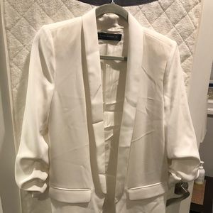 White Zara oversized blazer medium